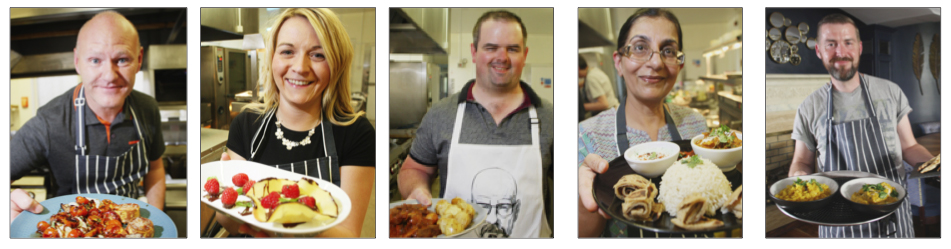 The finalists: Paul Maskey, Emma Sloan, Paddy Tierney, Nisha Tandon and Matt Garrett