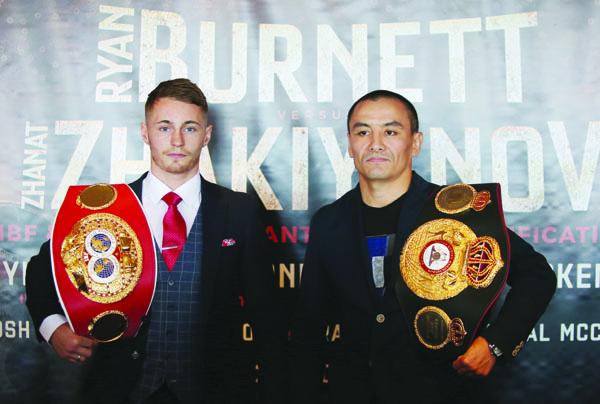 Ryan Burnett and Zhanat Zhakiyanov meet for the IBF and WBA bantamweight titles at the SSE Arena on October 21\nPicture by Jonathan Porter/PressEye.com