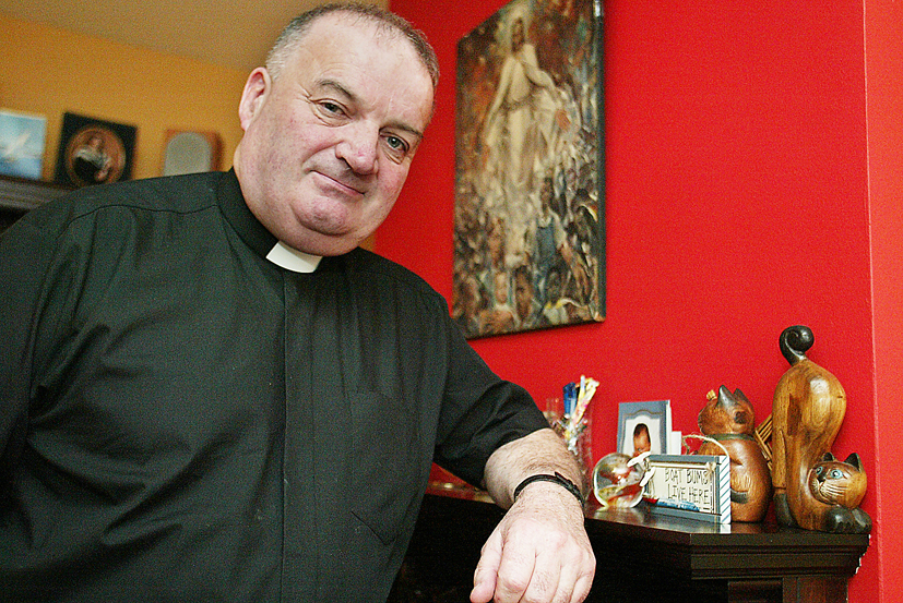 POPULAR: Fr John Forsythe will be moving to Randalstown