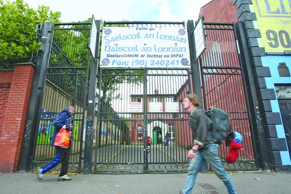 CLAIM:Gaelscoil an Lonnáin on the Falls Road