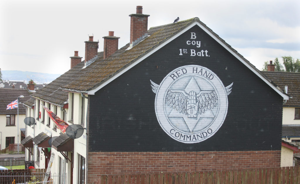A Red Hand Commando mural in Rathcoole