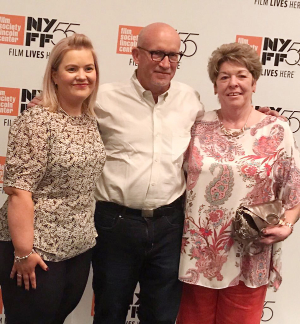 Emma Rogan (left) whose father Adrian was killed in the Heights Bar, with Moira Casement, the niece of victim Barney Green, and director Alex Gibney