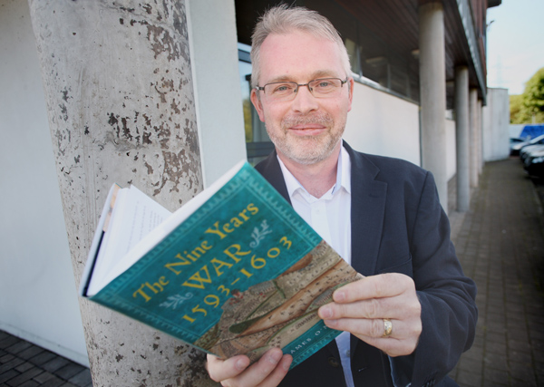 Caption- FASCINATING READ: Dr James O'Neill with is book, The Nine Years War 1593-1603