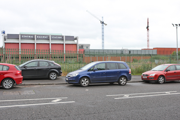 The site beside Central Station where the 14 -storey office block was due to be built