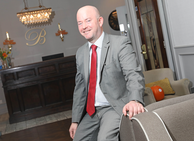 NEW ROLE:Sales manager at the Balmoral Hotel on the Blacks Road, Malachy Carabine
