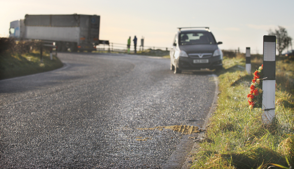 Road accident on the Upper Springfield Road