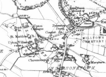 THE WAY WE WERE: The Glen Road meets the Falls Road at the turn of the last century