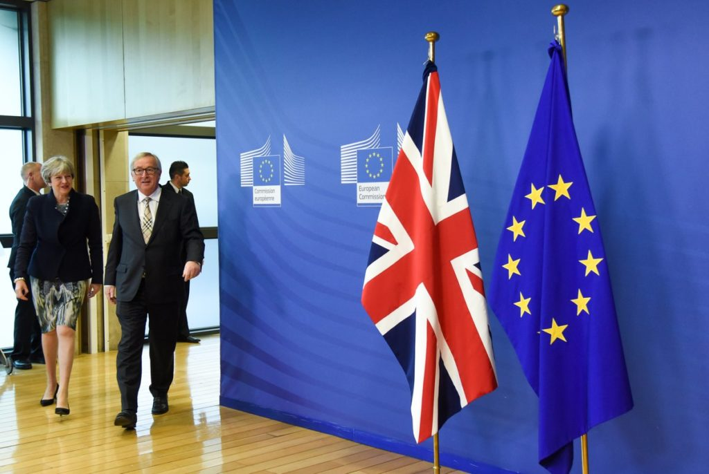 Theresa May and Jean-Claude Juncker said negotiations would continue