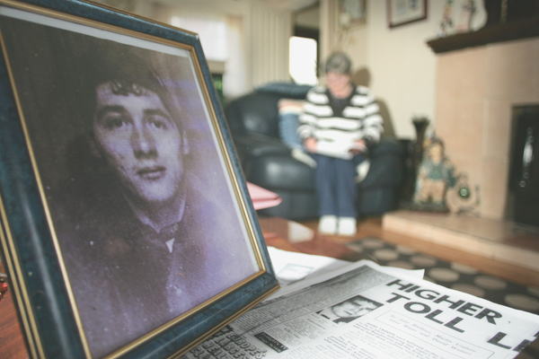 CAMPAIGN VICTORY: Theresa in her Ardoyne home where a picture of Joseph takes pride of place