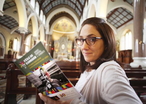 JAM-PACKED: Gráinne Reilly launching the new Féile An Earraigh Spring Festival programme at Clonard Monastery
