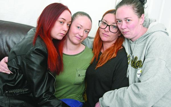 PROMISE: Sisters Bronagh McKernan, Joanne Hartley, Sarah McIlhone and Mary Kate McKernan mourn the passing of their mother Ann McKernan, sister of Gerry Conlon.