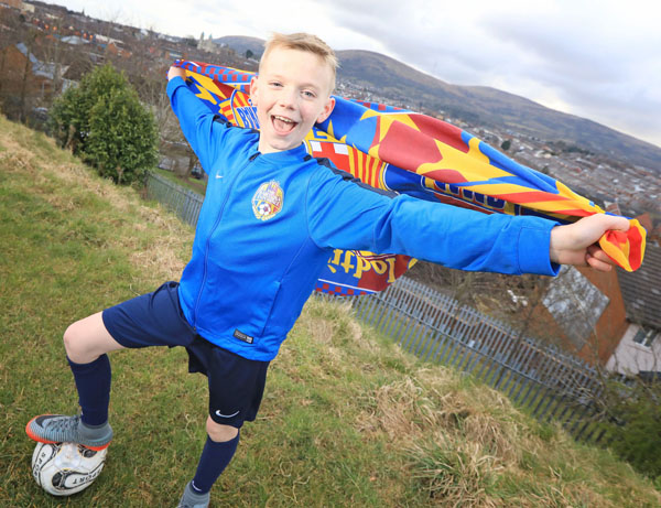 BARCA BOUND: 10 year-old Aodhan McDonald from Ardoyne was selected for the Belfast squad for the Barcelona Experience Cup 2018. Aodhan and his family travelled this week to Catalonia to enjoy sessions of FC Barcelona-style football training designed by former player