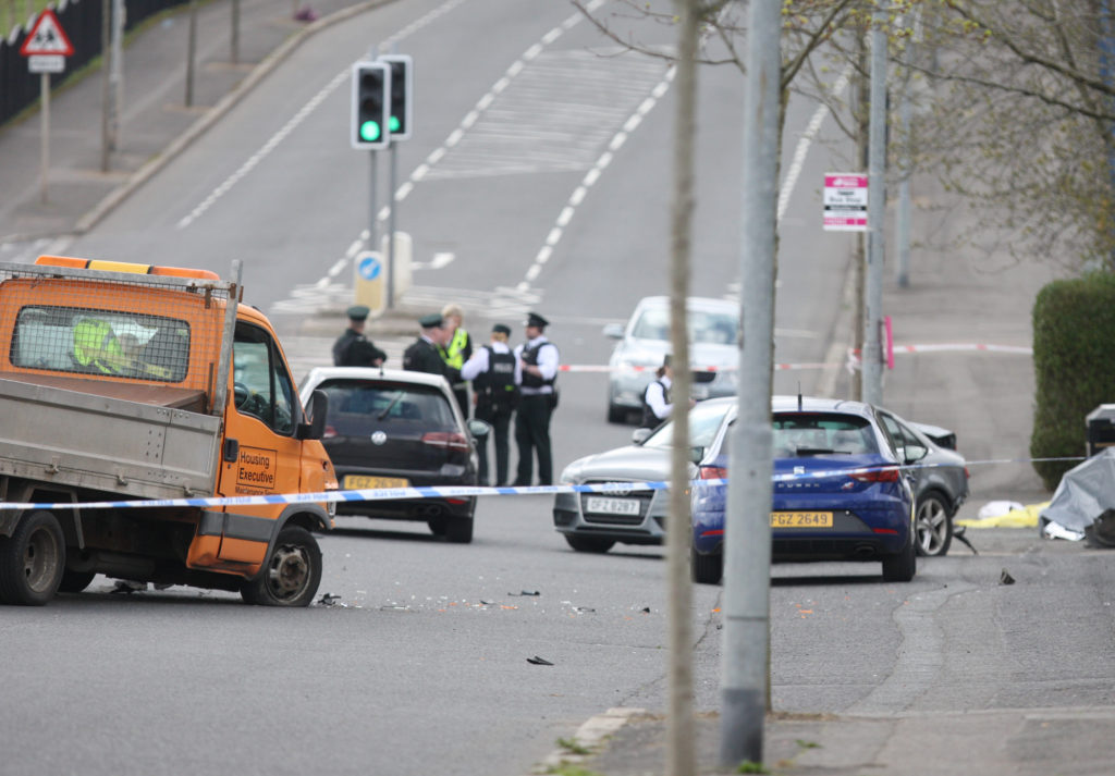 A woman was knocked down and killed on the Ballysillan Road North Belfast.