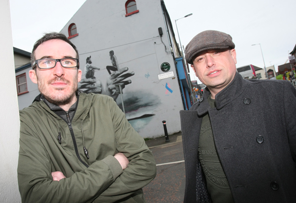 Tony Devlin of Brassneck Theatre Company along with Ciaran Nolan of The Balloon Factory join forces for the production of Man on the Moon which will be  performed at the Mac Theatre from the 8th May.