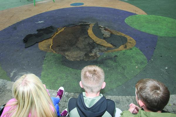 Dunville park damage 3116mj18