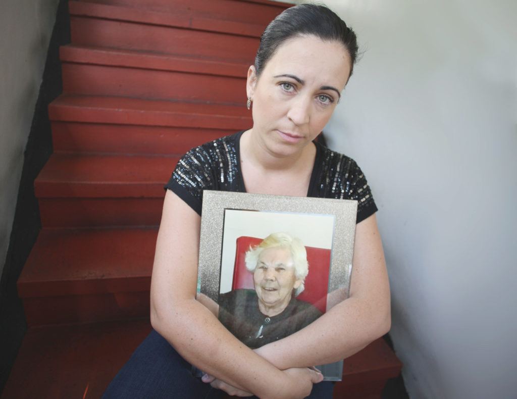 DEVASTATED: Julieann with a treasured portrait of granny Annier