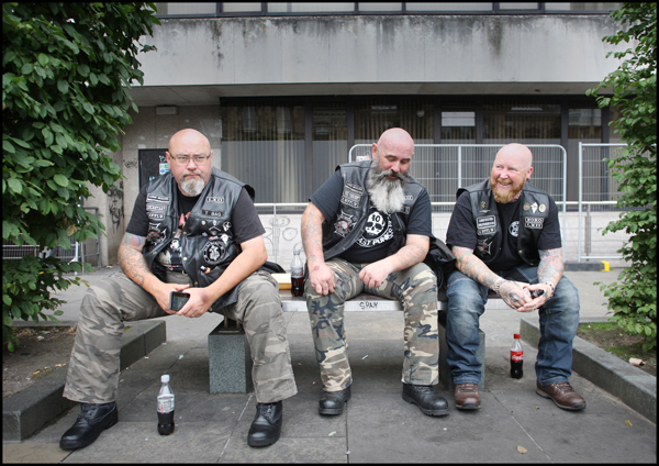 Bikers gathered at Custom House Square on Saturday for the annual Bike Show hosted by Hells Angels Belfast