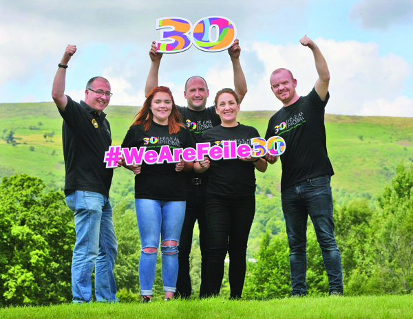 Kevin Morrison, Lauren Slane, Kevin Gamble, Aine McCabe and Tony McDonagh counting down the days to Feile an Phobail 2018. Ireland's largest community festival gets under way on Thursday