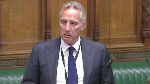 DUP MP Ian Paisley making his personal statement in the House of Commons