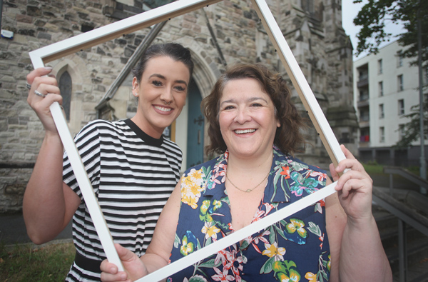 Outreach Officer Debbie Young with Fashion & Textile Artist, Chloe Dougan launch Women in the Arts As part of the Greater Newlodge Community Festival in the The Duncairn.  Hosting a body of work by local women in the arts; Artists Chloe Dougan, Eimear OÕCaoilte and Evie Williamson.  The exhibition touches on topics such as mental health, women in struggle and photographic developmental work using derelict spaces and the heightened consciousness of found light in such spaces. The exhibition runs until the festival close, 10th August