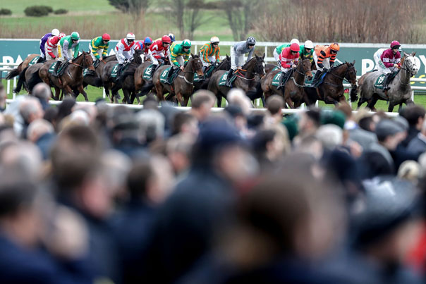 REPRO FREE***PRESS RELEASE NO REPRODUCTION FEE*** EDITORIAL USE ONLY\n2018 Leopardstown Christmas Festival, Leopardstown Racecourse, Dublin 27/12/2018\nThe Paddy Power \'Enough of your Nonsense\' Handicap Hurdle\nA general view of the fifth race of the day\nMandatory Credit ©INPHO/Bryan Keane