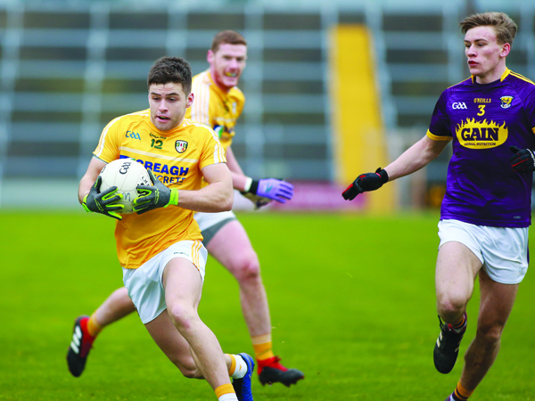 Paddy McBride, pictured in action against Wexford last month, says Antrim must put their poor form behind them as they seek to defeat Wicklow this weekend