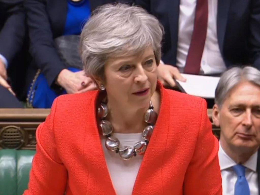 Theresa May in the Commons last night