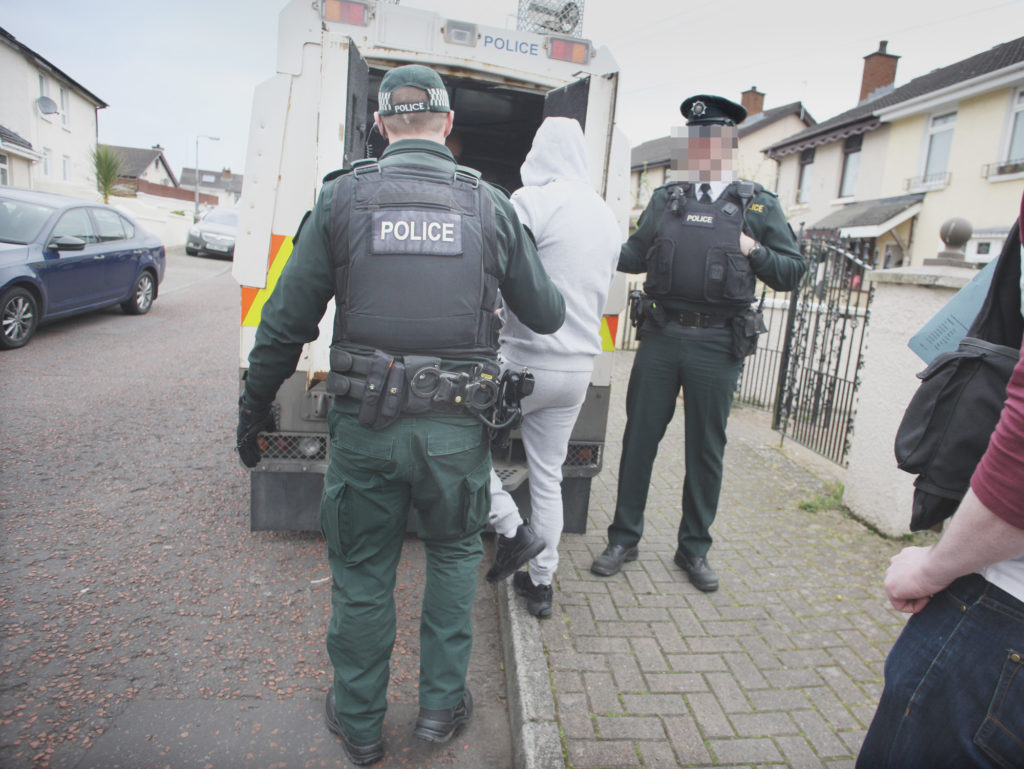 A man was arrested in the Poleglass area of West Belfast
