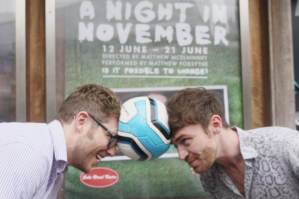 GOING HEAD TO HEAD:Director Matthew McElhinney and actor Matthew Forsythe