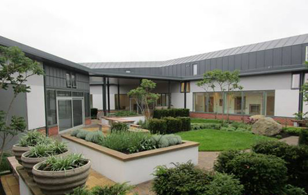 The gardens at the new Acute Mental Health Inpatient Centre at Belfast City Hospital
