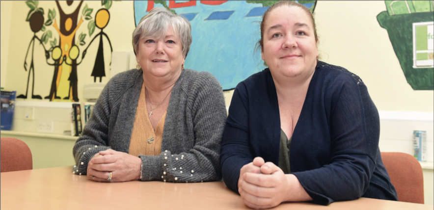 A HELPING HAND: Patricia Perry and Anne McKenna from PIPS Family Group talk about how interacting with women who have shared experiences helps them cope