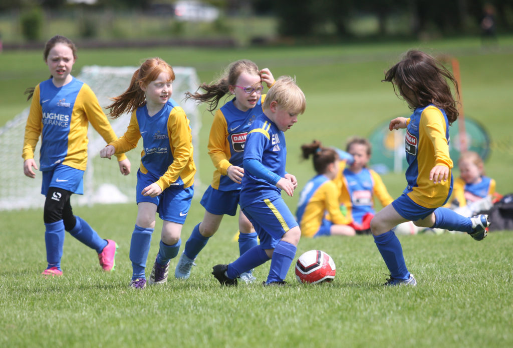 Action from a cross community football tournament organised by Carryduff Colts at Loughmoss Park