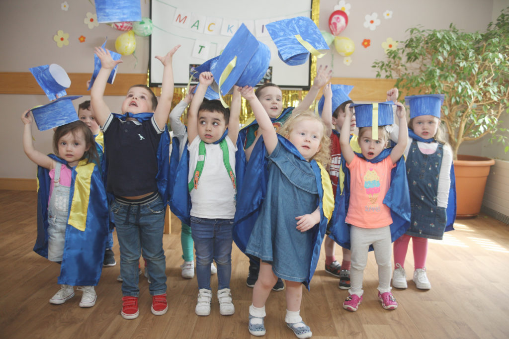 Start Smart Daycare tots graduation in Our Lady's Nursing Home