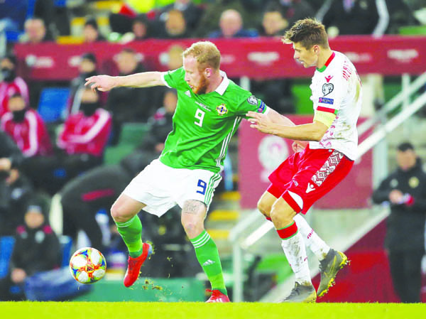 Liam Boyce is hopeful of earning a starting place in the games against Estonia and Belarus