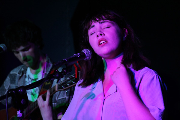 TALENTED: Eve Belle singing in Early's pub in Arranmore Island on Saturday night   photo by Siobhan Cox