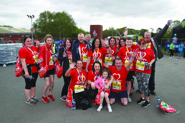 TOP TEAM: 38 members of Joe's family and friends raised £3,100 from this year's Belfast Marathon efforts