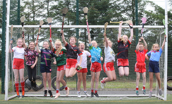 Lámh Dhearg camógs enjoy the club's summer Cúl Camp on one of the hottest days of the year