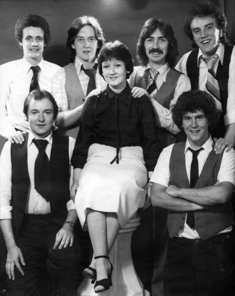 The Livin' Thing 40 years ago 1979: Back row: Conor McHugh, Seamy Cassidy, Jim Hughes, Roy Cassidy. Front row: Tom Morgan, Angela Hayes, John McKavanagh