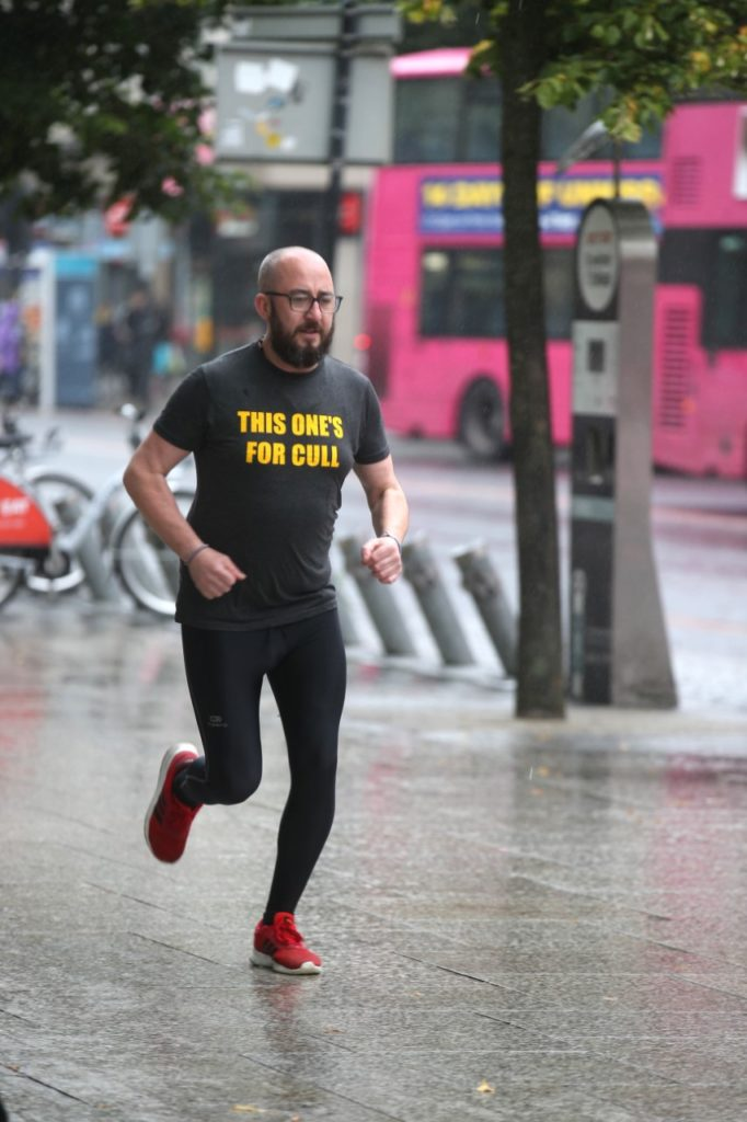 ON THE ROAD: Brian McGeown is running 366-miles in seven days in memory of Michael Cullen