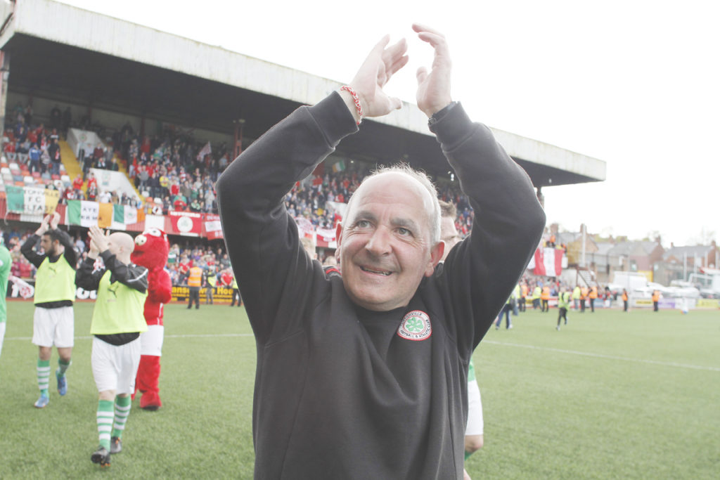 Tributes have been paid following the death of former Cliftonville player and manager Tommy Breslin, who died suddenly on holiday aged 58.