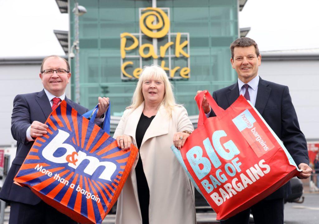 Park Centre owner Stephen McGeown from Latt Ltd, Park Centre Manager Ruth Lindsay and CBRE's Colin Mathewson