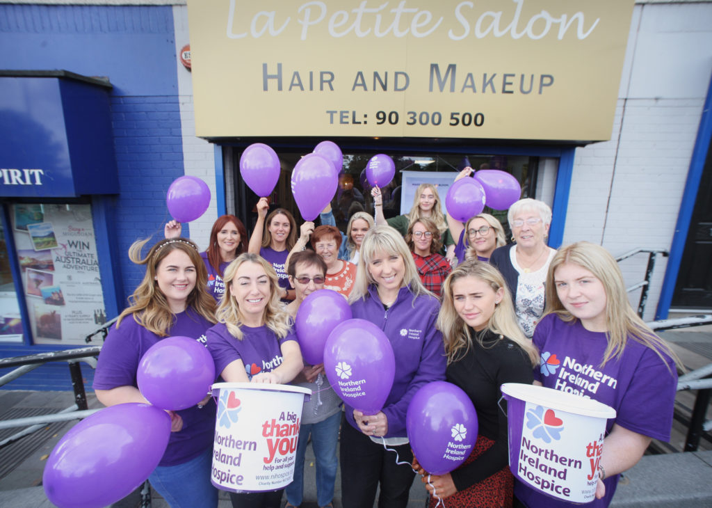 All smiles at a fundraiser in aid of the NI Hospice at La Petite Salon on the Suffolk Road