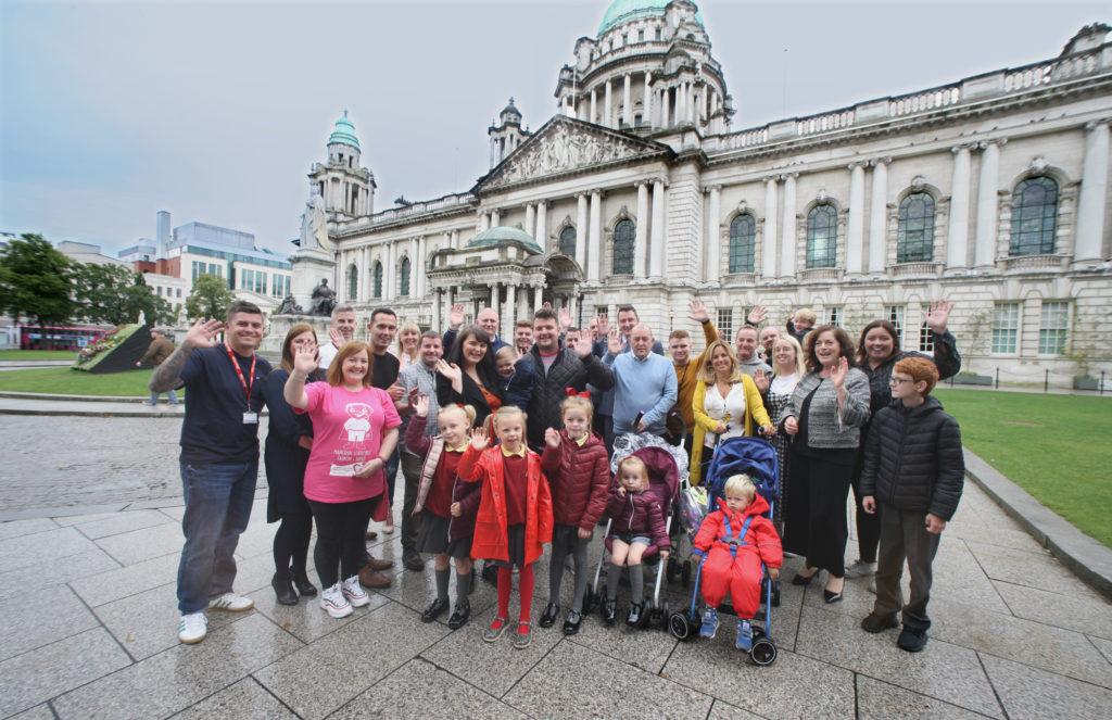 D‡áithí Mac Gabhann and his parents M‡áirtín and Seph with the Sinn Féin Council team together for Organ Donation week