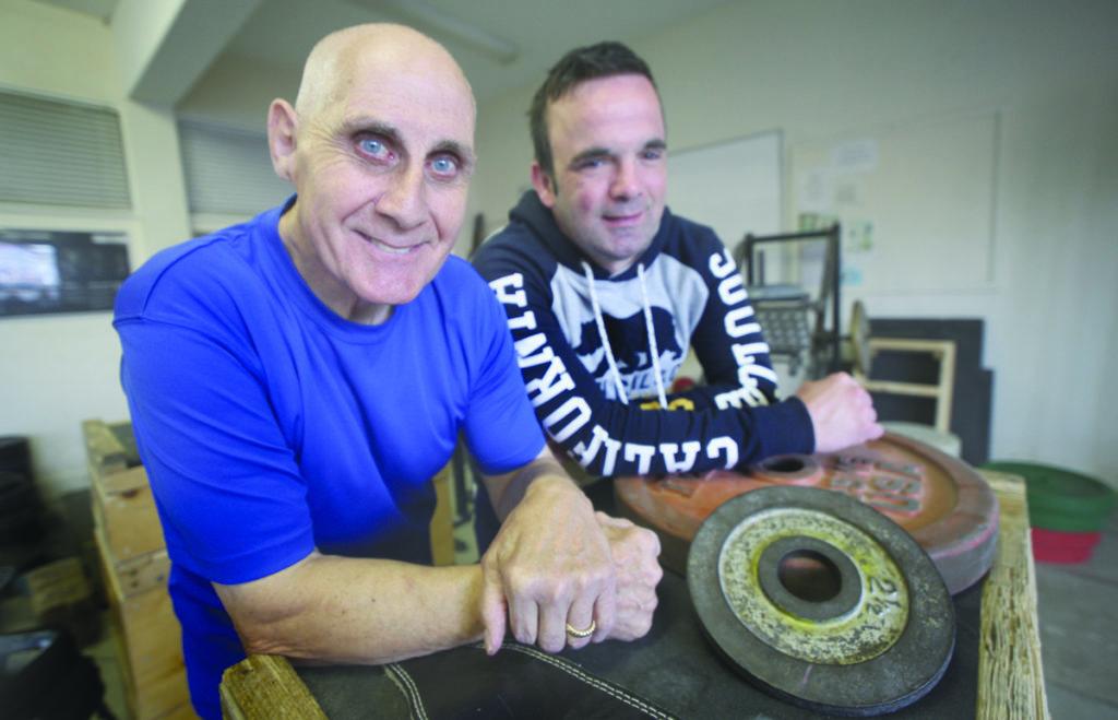St Gabriel's weightlifting Club, Ronnie Whiteway with Seamus Kelly