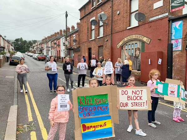 ENOUGH: Children join their parents at the street protest