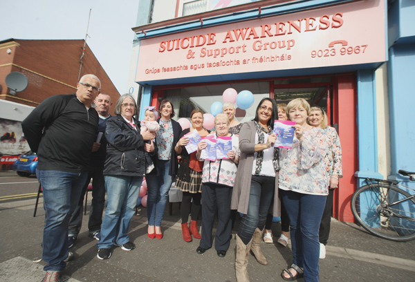 AWARENESS: The a coffee and information session at Suicide Awareness on the Falls Road