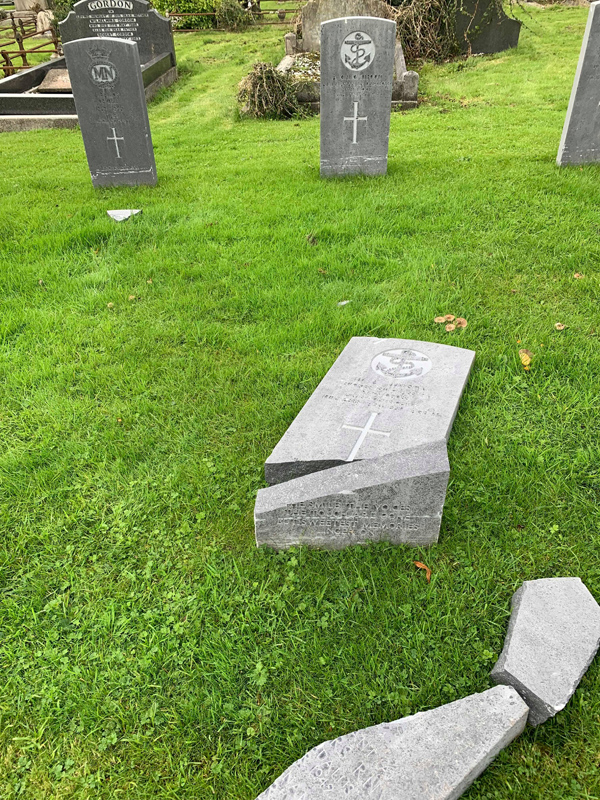 The graves were attacked on Saturday and Sunday night