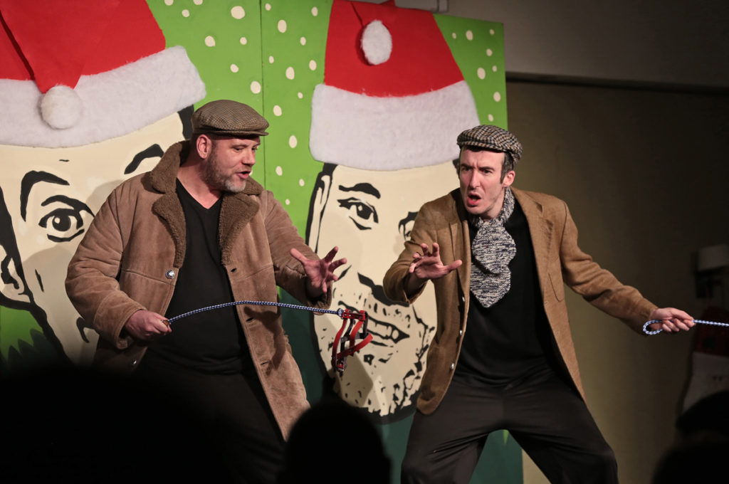 Ciarán Nolan and Gerard Jordan bring a splash of festive colour to the Roddy's as part of their Deck the Falls Christmas show