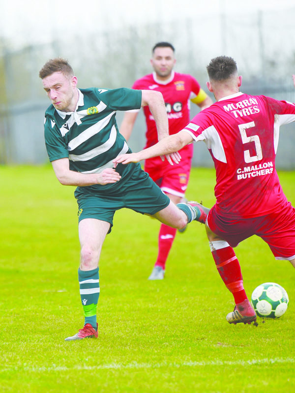 Belfast Celtic (pictured during Saturday's Irish Cup victory against Annagh United) and St Luke's (pictured during their win over Immaculata in Round Four) and have scored some impressive wins this season and both will hope to continue that form this weekend