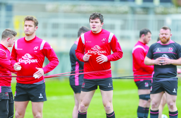 Jacob Stockdale (centre) insists Ulster must produce a top-class display if they want to get their European Champions Cup campaign off to a good start in Bath
